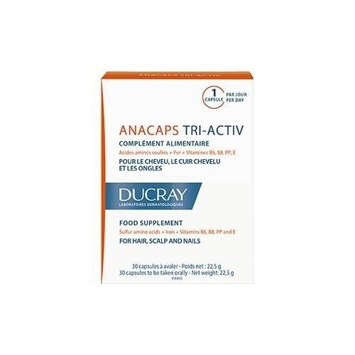 Ducray Капсулы Три Актив Анакапс №30 капсулы для роста волос и ногтей ducray anacaps reactiv n30