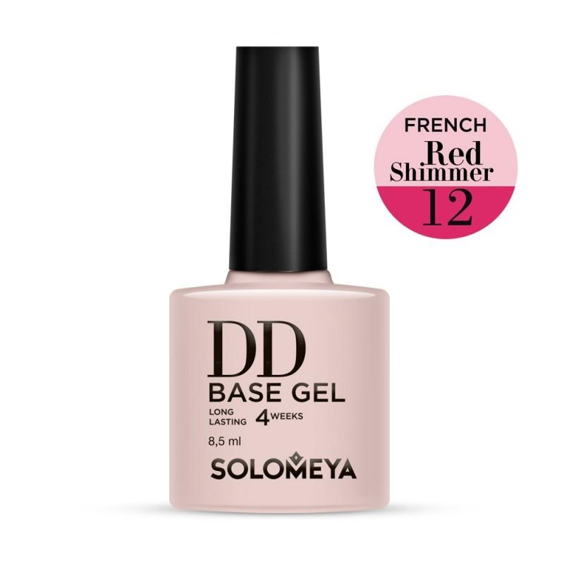 Solomeya DD-База Суперэластичная Цвет French 12 Red Shimmer, 8,5 мл