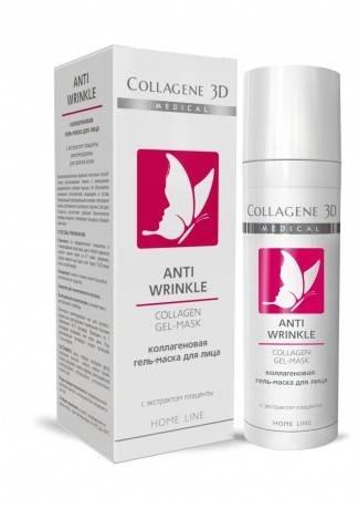 Collagene 3D Гель-маска с плацентолью Anti Wrinkle, 30 мл collagene 3d гель маска basic care чистый коллаген 30 мл