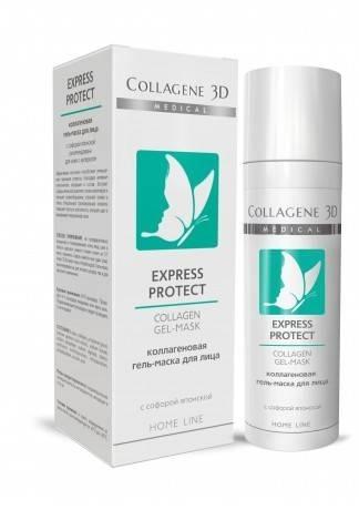 Collagene 3D Гель-маска с софорой японской Express Protect, 30 мл collagene 3d гель маска basic care чистый коллаген 30 мл