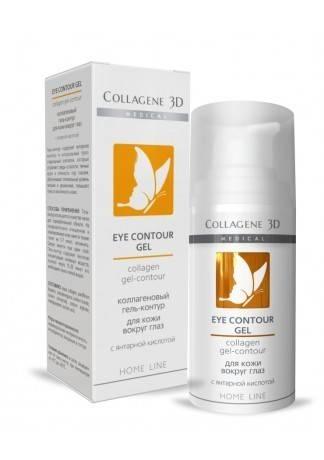 цена Collagene 3D Гель-контур для глаз с янтарной кислотой Express Lifting, 15 мл онлайн в 2017 году
