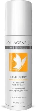 цена Collagene 3D Гель для тела с янтарной кислотой Ideal Body, 130 мл онлайн в 2017 году