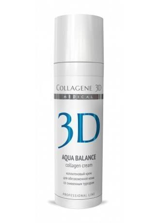 Collagene 3D Крем для лица с гиалуроновой килотой, восстановление тургора и эластичности кожи Aqua Balance, 30 мл collagene 3d гель маска для лица aqua balance с гиалуроновой кислотой восстановление тургора и эластичности кожи 30 мл