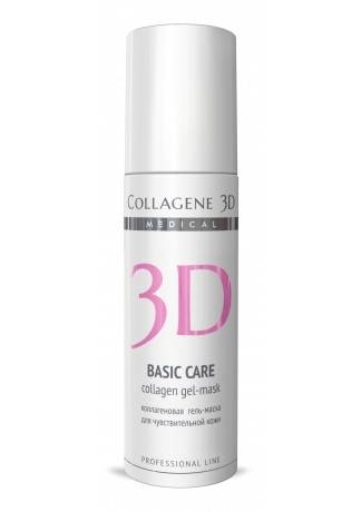 Collagene 3D Коллагеновая Гель-маска для чувствительной и склонной к аллергии кожи Basic Care, 130 мл medical collagene 3d гель маска коллагеновая с комплексом syn ake