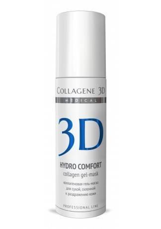 Collagene 3D Гель-маска для лица с аллантоином, для раздраженной и сухой кожи Hydro Comfort, 130 мл
