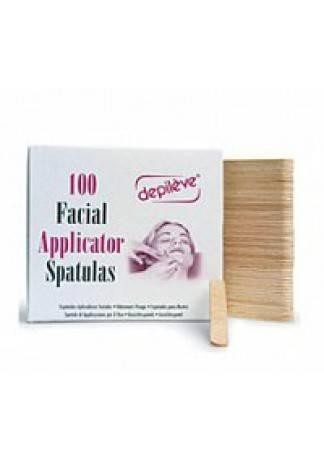 Depileve Шпатели для Лица, 100 шт depilica нетканые полоски для эпиляции для лица 3x12 5 см non woven facial strips 100 шт