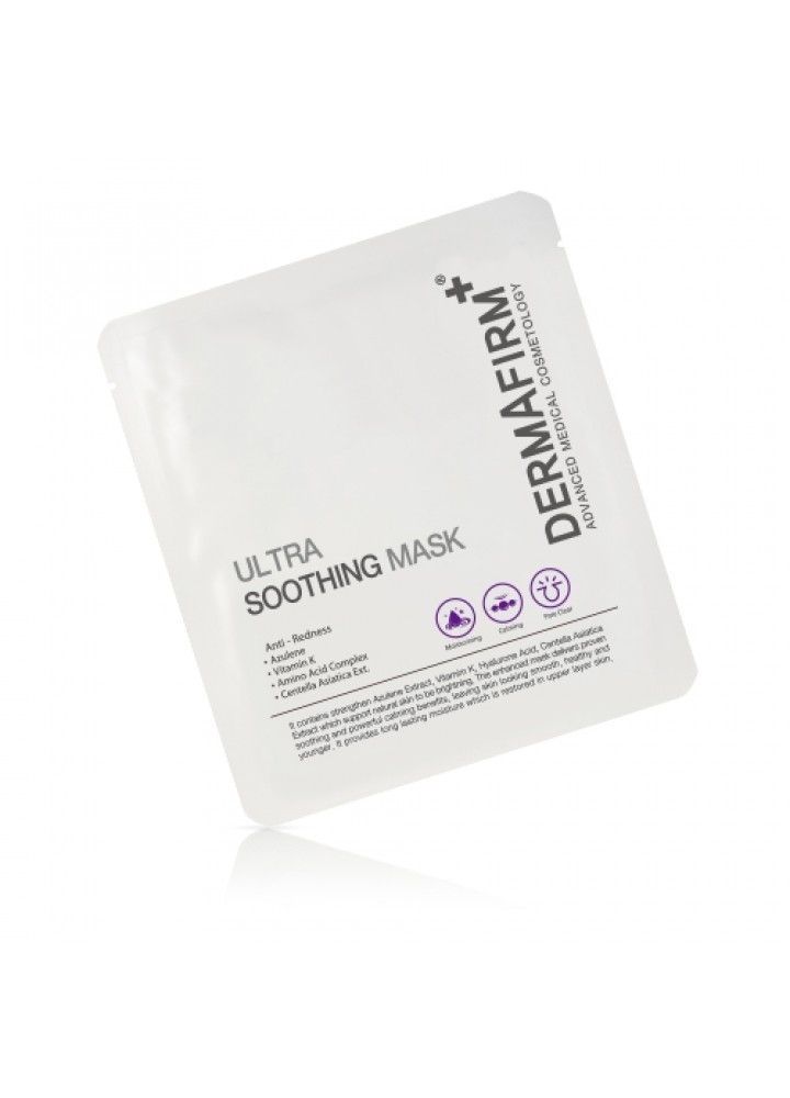 Dermafirm Маска Успокаивающая DF Ultra Soothing Mask, 30г snp fruits gelato soothing mask