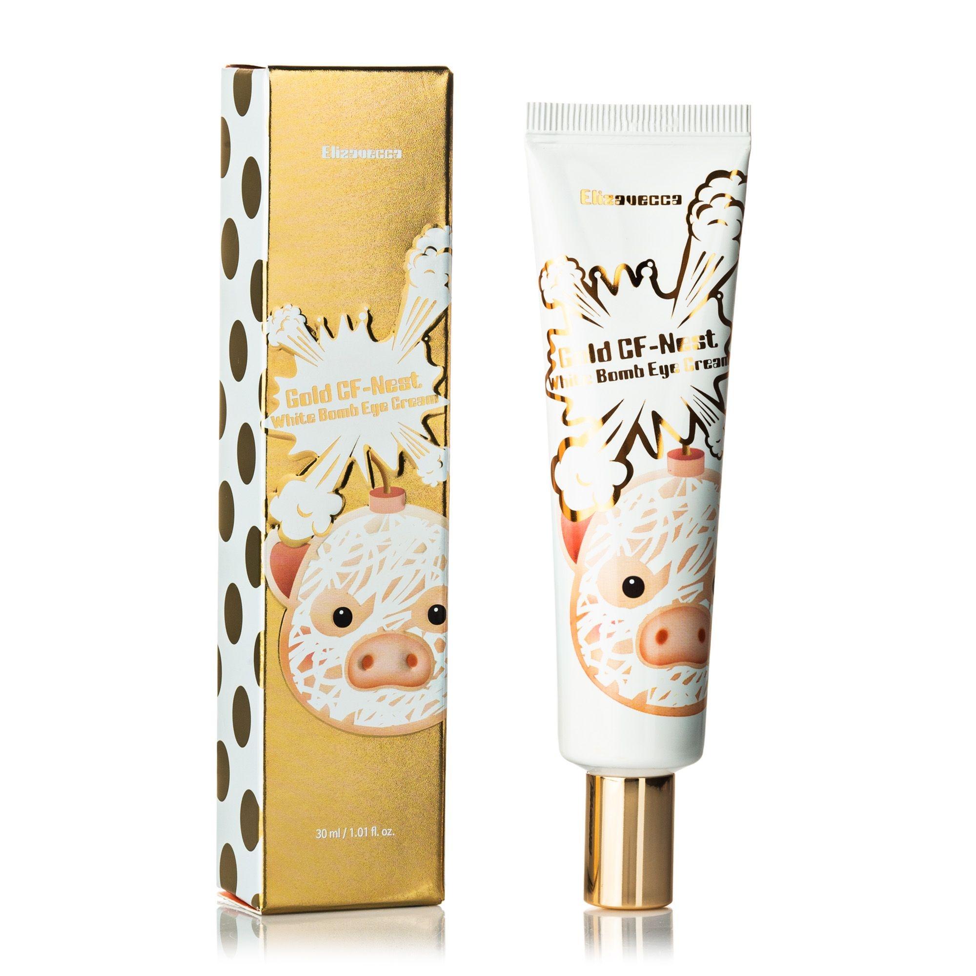 Elizavecca Крем Gold CF-Nest White Bomb Eye Cream Осветляющий для Глаз с Экстрактом Ласточкиного Гнезда, 30 мл