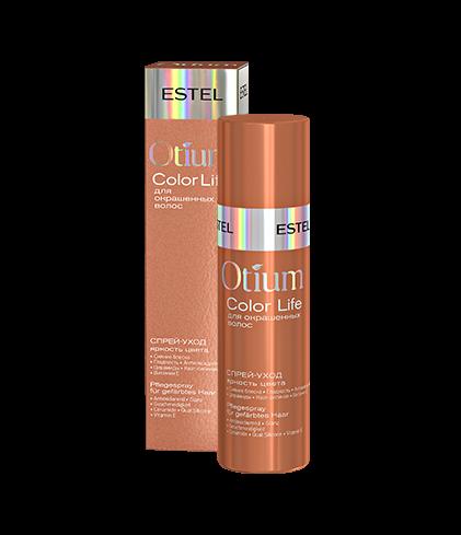ESTEL Спрей-Уход Otium Color Life для Окрашенных Волос Яркость Цвета, 100 мл спрей уход для окрашенных волос яркость цвета otium color life 100мл