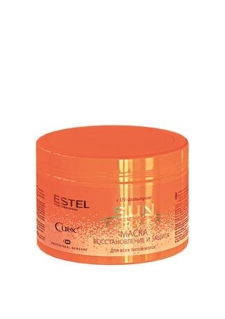 ESTEL Маска CUREX Sun Flower с UV-Фильтром Восстановление и Защита, 500 мл estel curex sun flower shampoo шампунь увлажнение и питание с uv фильтром 300 мл