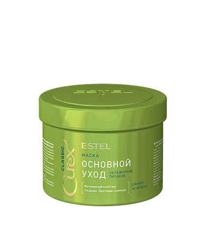 ESTEL CUREX Маска Питательная для Всех Типов Волос, 500 мл estel curex therapy эликсир красоты для всех типов 100 мл