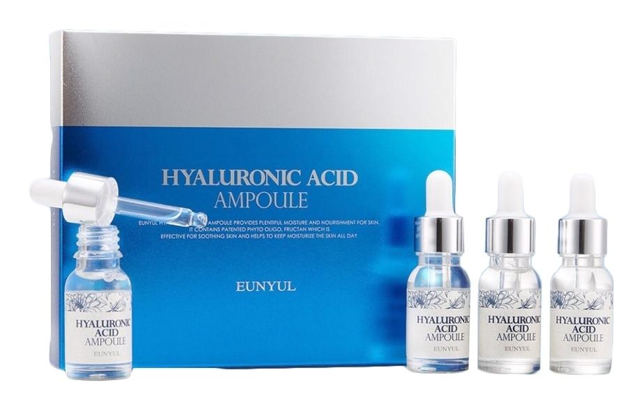 Eunyul Сыворотка Hyaluronic Acid Ampoule 4 Set Ампульная с Гиалуроновой Кислотой, 48 мл крем для ухода за кожей eunyul с гиалуроновой кислотой 100 мл