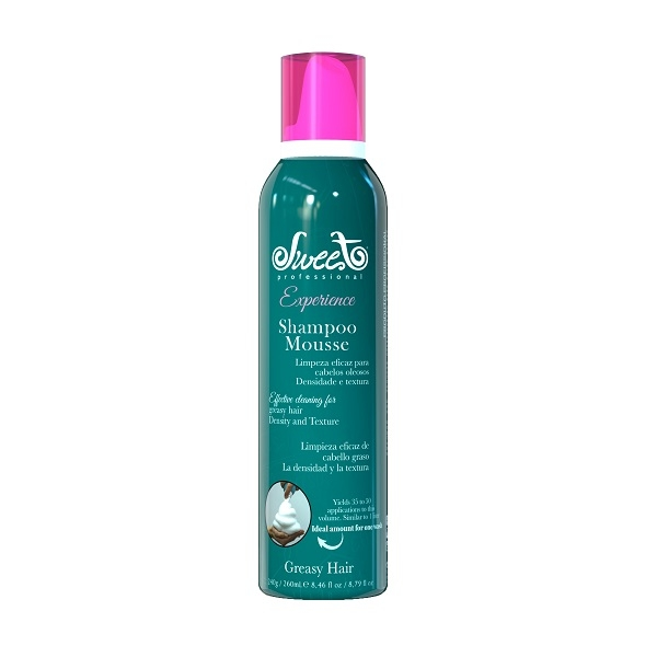 Sweet Hair Professional Шампунь-Мусс Extra Volume Shampoo для Жирных Волос, 260 мл