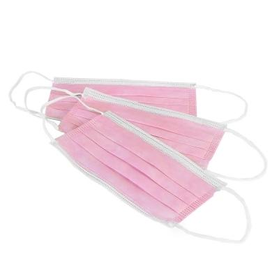 IGRObeauty Маска Спанбонд 3х Слойная на Резинке, Цвет Розовый, 50 шт