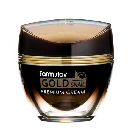 FarmStay Крем Gold Snail Premium Cream Премиальный с Золотом и Муцином Улитки, 50 мл snail крем