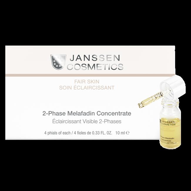 Janssen Комплекс 2-Phase Melafadin Concentrate Двухфазный Осветляющий, 4*10 мл lierac prescription dual phase concentrate anti blemish купить