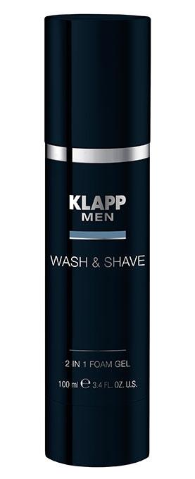 Klapp Гель 2in1 Foam Gel для Бритья и Умывания, 100 мл men гель без пены для умывания легкого бритья и увлажнения academie 150 мл