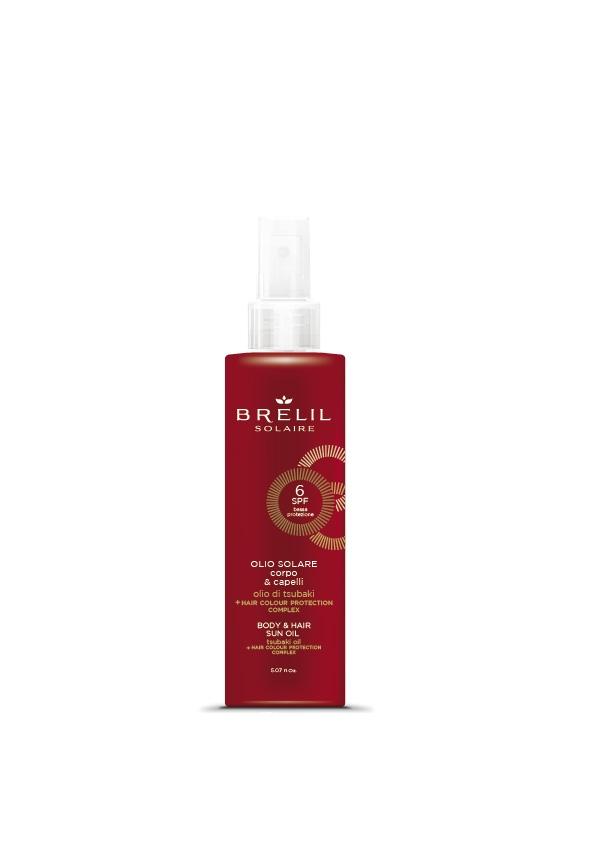 Brelil Professional Масло Solair Защитное для Волос и Тела  SPF 6, 150 мл
