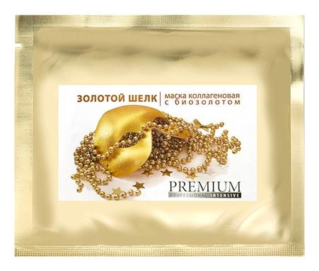 PREMIUM Маска Коллагеновая Золотой Шелк с Биозолотом губка коллагеновая кровоостанавливающая 5х5см 1
