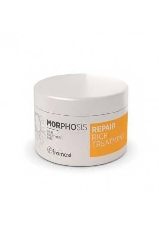 Framesi Восстанавливающая маска интенсивного действия для поврежденных волос MORPHOSIS REPAIR RICH TREATMENT, 200 мл framesi восстанавливающий шампунь для поврежденных волос morphosis repair 1000 мл