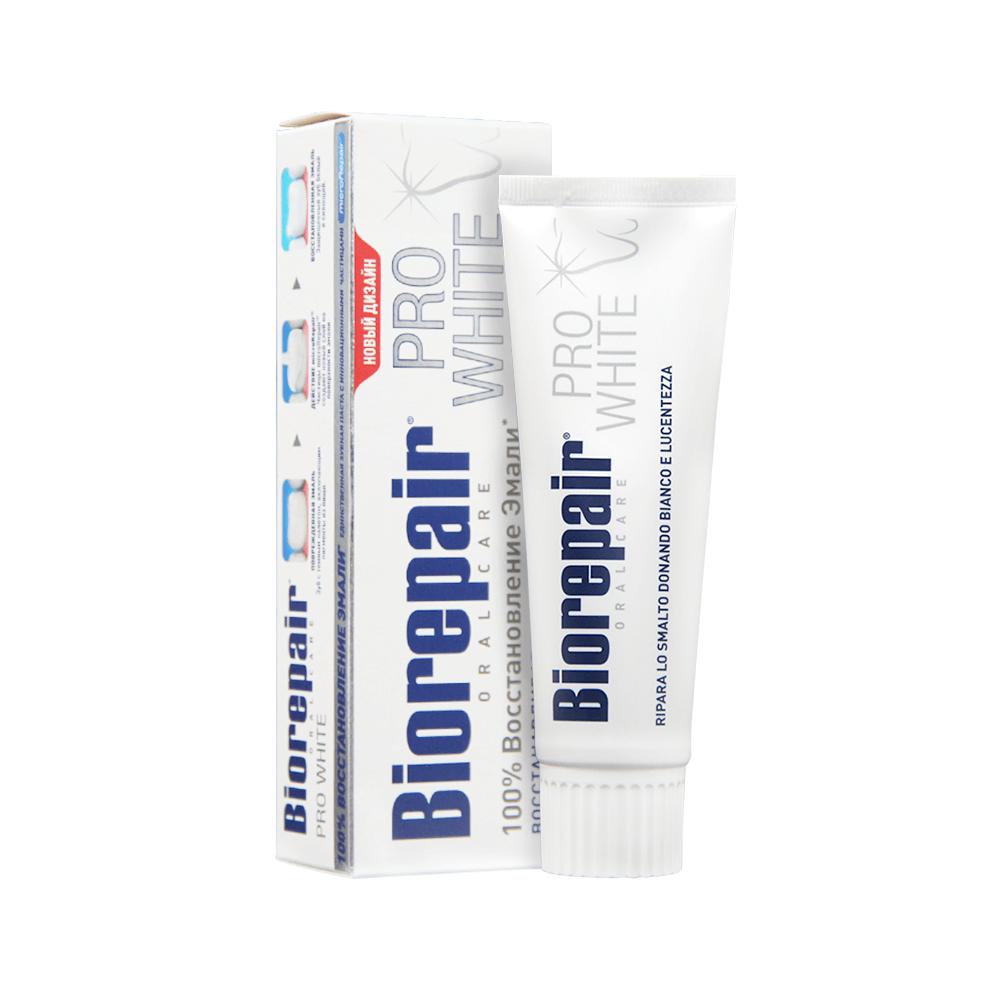 BIOREPAIR Паста Pro White Про Вайт Зубная, 75 мл зубная паста biorepair intensive night repair ночное восстановление 75 мл 2 шт