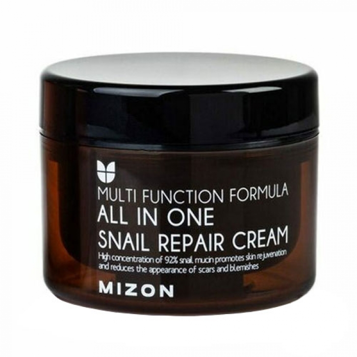 MIZON Крем All In One Snail Repair Cream Mini для Лица с Муцином Улитки, 120 мл