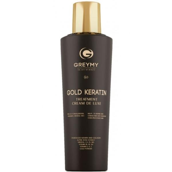 Greymy Крем Gold Hair Keratin Treatment Кератиновый с Частицами Золота, 500 мл