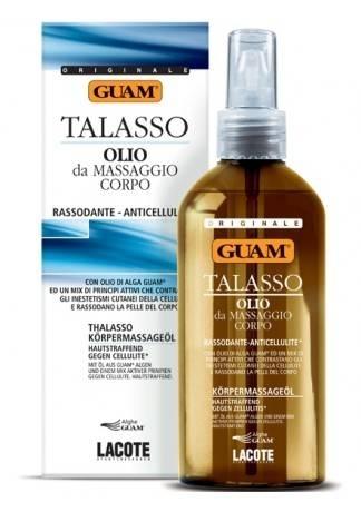 GUAM Масло для тела массажное подтягивающее антицеллюлитное TALASSO, 200 мл