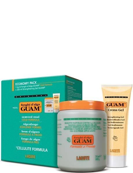 GUAM Маска антицеллюлитная с охлаждающим эффектом 1000 г + Гель-лифтинг укрепляющий 250 мл FANGHI D'ALGA, 1250 г цены