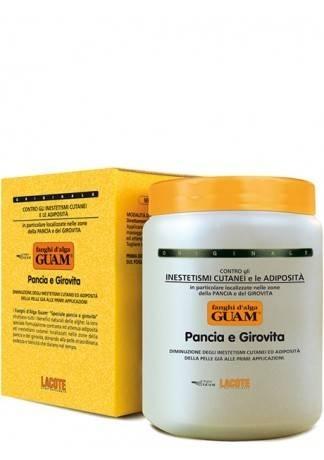 GUAM Маска антицеллюлитная для живота и талии FANGHI D'ALGA, 1000 г guam маска антицеллюлитная для чувствительной кожи с хрупкими капиллярами fanghi d'alga 500г