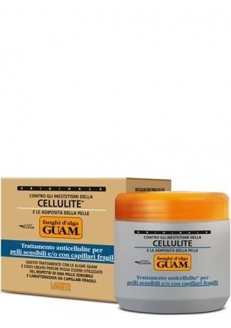 GUAM Маска антицеллюлитная для чувствительной кожи с хрупкими капиллярами FANGHI D'ALGA, 500 г guam маска антицеллюлитная для чувствительной кожи с хрупкими капиллярами fanghi d'alga 500г