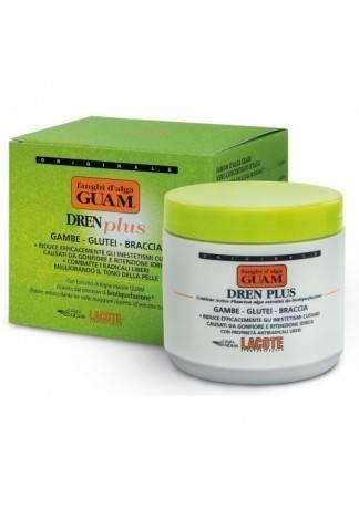 GUAM Маска антицеллюлитная с дренажным эффектом DREN PLUS FANGHI D'ALGA, 500 г guam маска антицеллюлитная для чувствительной кожи с хрупкими капиллярами fanghi d'alga 500г