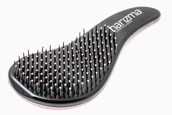 Harizma Щётка для Волос D'tangler с Ручкой Розовая/Черная Большая harizma щётка для волос relax большая золото