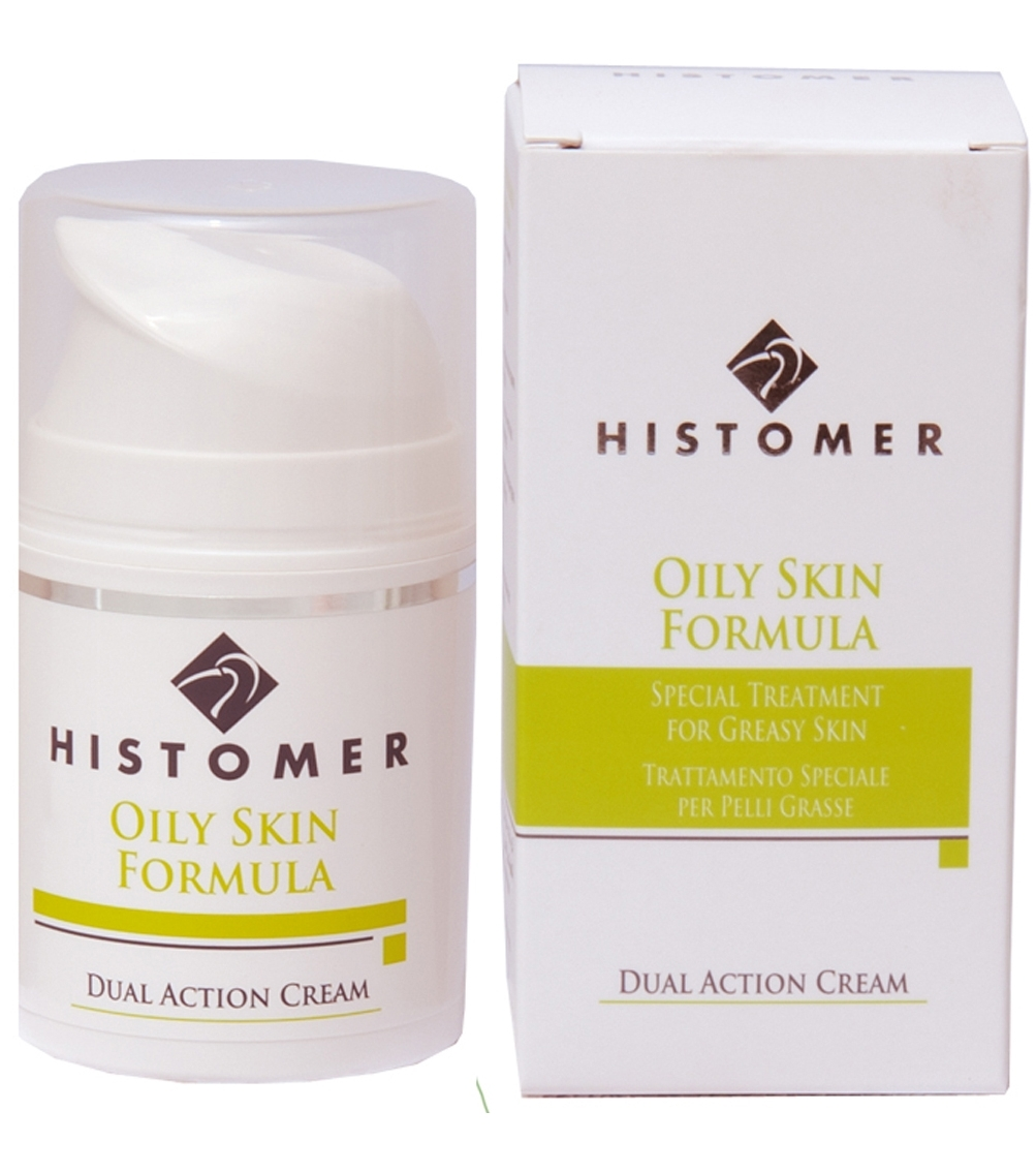 Histomer Крем двойного действия Anti-age жирной кожи Oily Skin Dual Action Cream, 50 мл histomer крем увлажняющий глубокого действия hydrating deep action 50 мл