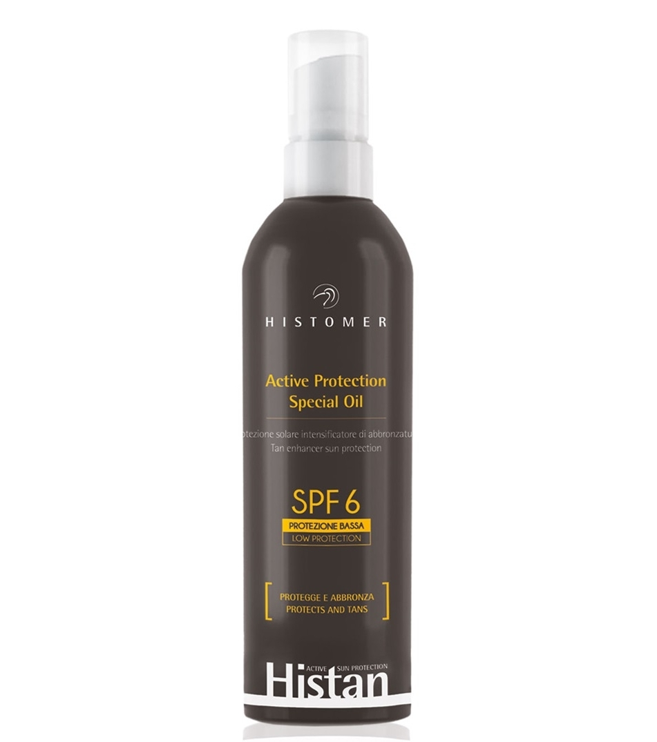 Histomer Солнцезащитное масло-бронзатор для лица и тела SPF6 Active Protection Oil, 200 мл