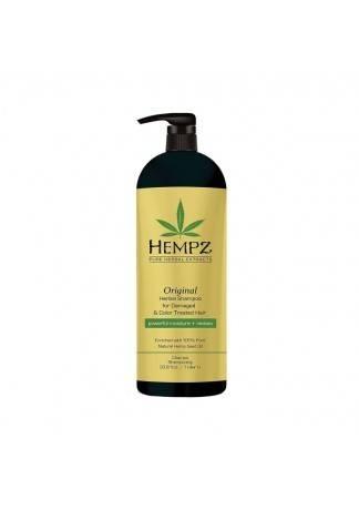HEMPZ Шампунь Растительный Оригинальный для Поврежденных Окрашенных Волос, 1000 мл