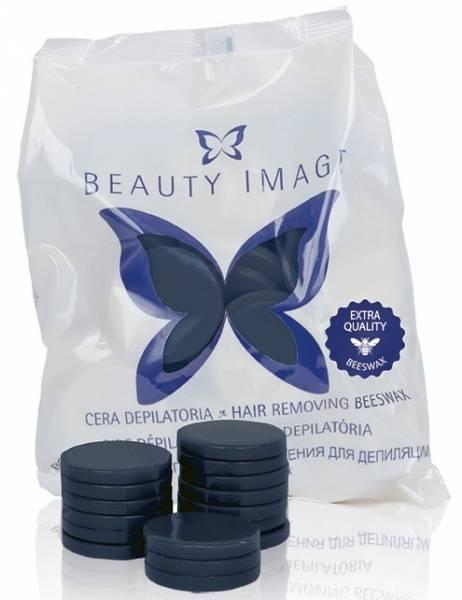 Beauty Image Воск в Дисках Пчелиный Экстра Синий - с Азуленом, 1000г beauty image воск горячий в дисках зеленый 1 кг