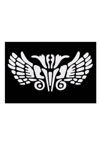 Beauty Image Трафареты Черно-Белые Многоразовые Каучуковые (Размер 8см х 11см) ebsd image