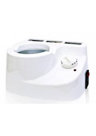 Beauty Image Мультисистемный Нагреватель 3 в 1 Combi Wax для Воска, Парафина и Парафанго (Пластик ,400/500 мл , 2 Пластмассовых Держателя для Кассет ,без Кастрюльки)