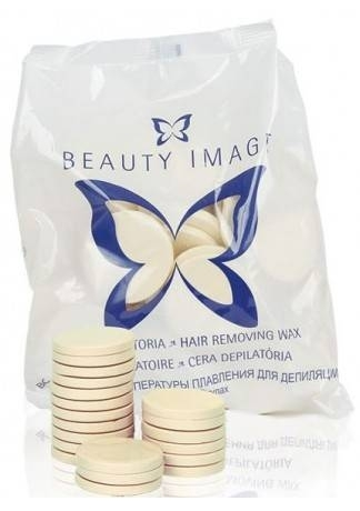 Beauty Image Горячий Воск Белый с Тальком и Диоксидом Титана (в Дисках), 1000г beauty image воск горячий в дисках зеленый 1 кг