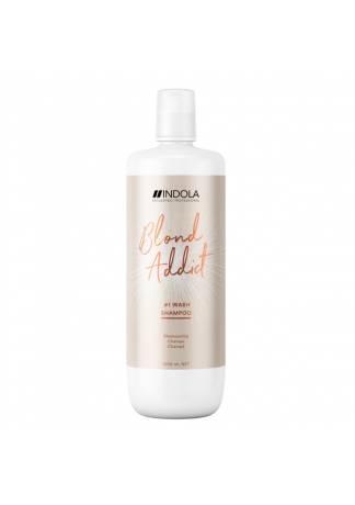 INDOLA PROFESSIONAL Шампунь для Всех Типов Волос Блонд Blond Addict, 1000 мл шампунь indola repair shampoo объем 300 мл