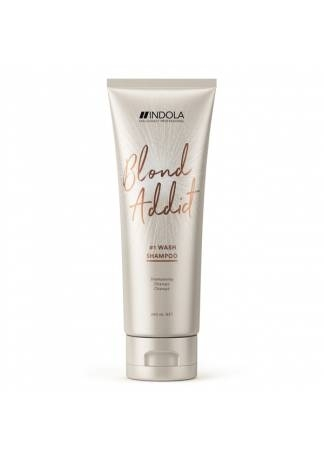 шампунь для волос dott solari cosmetics unico 250 мл восстанавливающий для всех типов INDOLA PROFESSIONAL Шампунь для Всех Типов Волос Блонд Blond Addict, 250 мл