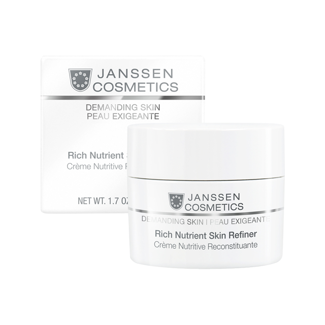 Janssen Rich Nutrient Skin Refiner - Обогащенный Дневной Питательный Крем (Spf 4) 50 мл осветляющий дневной крем spf 20 50 мл janssen fair skin