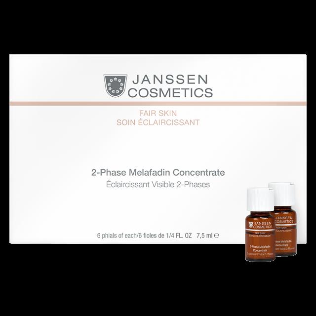 Фото - Janssen 2-Phase Melafadin Concentrate - Двухфазный Осветляющий Комплекс 6 Х 7,5 мл janssen bi phase ampoules neurogenetics двухфазная сыворотка для экспресс восстановления кожи 2 мл
