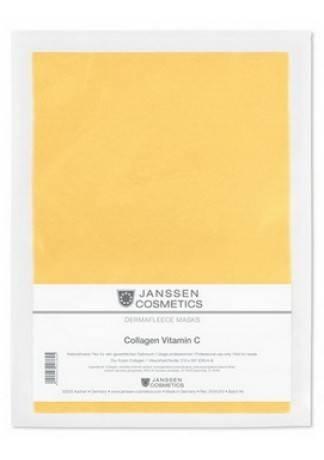 Janssen Collagen Vitamin C Коллаген с Витамином с и Зеленым Чаем (1 Светло-Оранжевый Лист) janssen коллаген для век белые бобы collagen eye lid mask bean