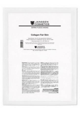 Janssen Collagen Fair Skin Осветляющий Коллаген (1 Белый Лист) 2016 new stimulate collagen regenerating 3in1 3mhz ultrasonic galvanic ion photon face massager skin care beauty device