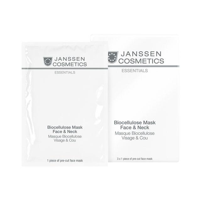 Janssen Лифтинг-Маска для Лица и Шеи с Голубикой, 1шт маска из сыворотки