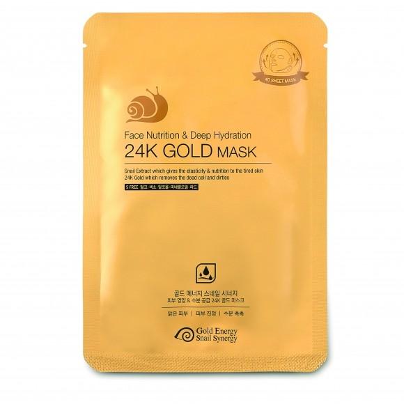 цена на J&G Cosmetics Маска для Лица Питательная GOLD SNAIL FACE NUTRITION MASK, 10 шт