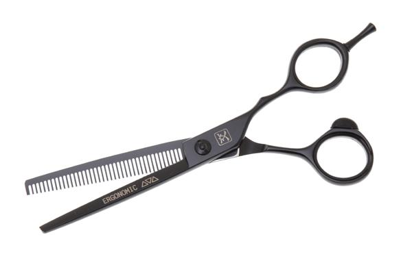Katachi Ножницы Филировочные Katachi Black Ergonomic 6.0 katachi ножницы ergonomic прямые 3 вида 1 шт 5 0 k1650
