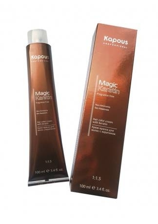 Kapous Magic Keratin Крем-Краска для Волос «Non Amonnia» NA 10.23 бежевый перламутрово-платиновый блонд , 100 мл kapous magic keratin крем краска для волос non amonnia na 7 насыщенный блонд 100 мл